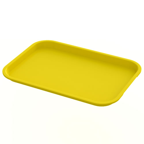 "12"" x 16"" Yellow Food Service Tray"