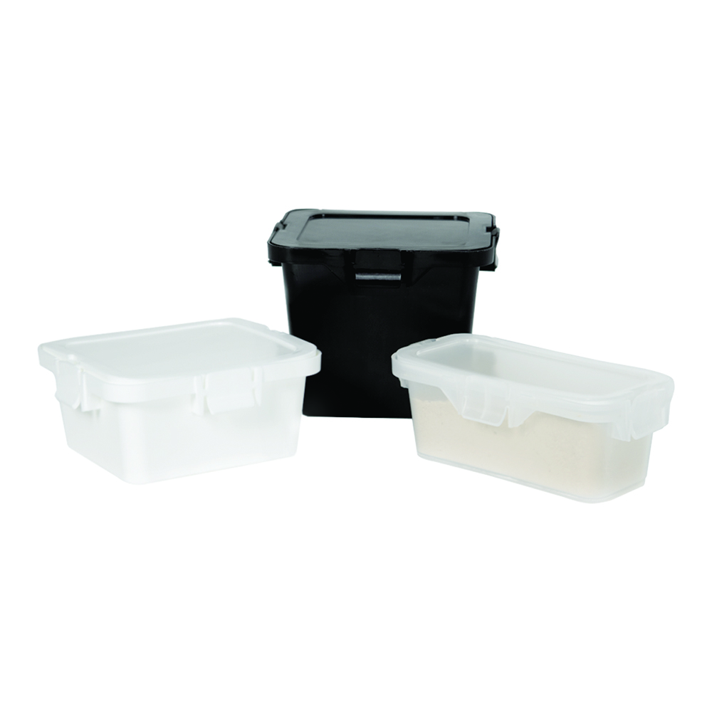 Child Resistant Containers with Hinged Lids