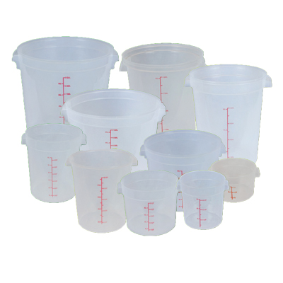 Translucent Polypropylene Round Food Storage Containers