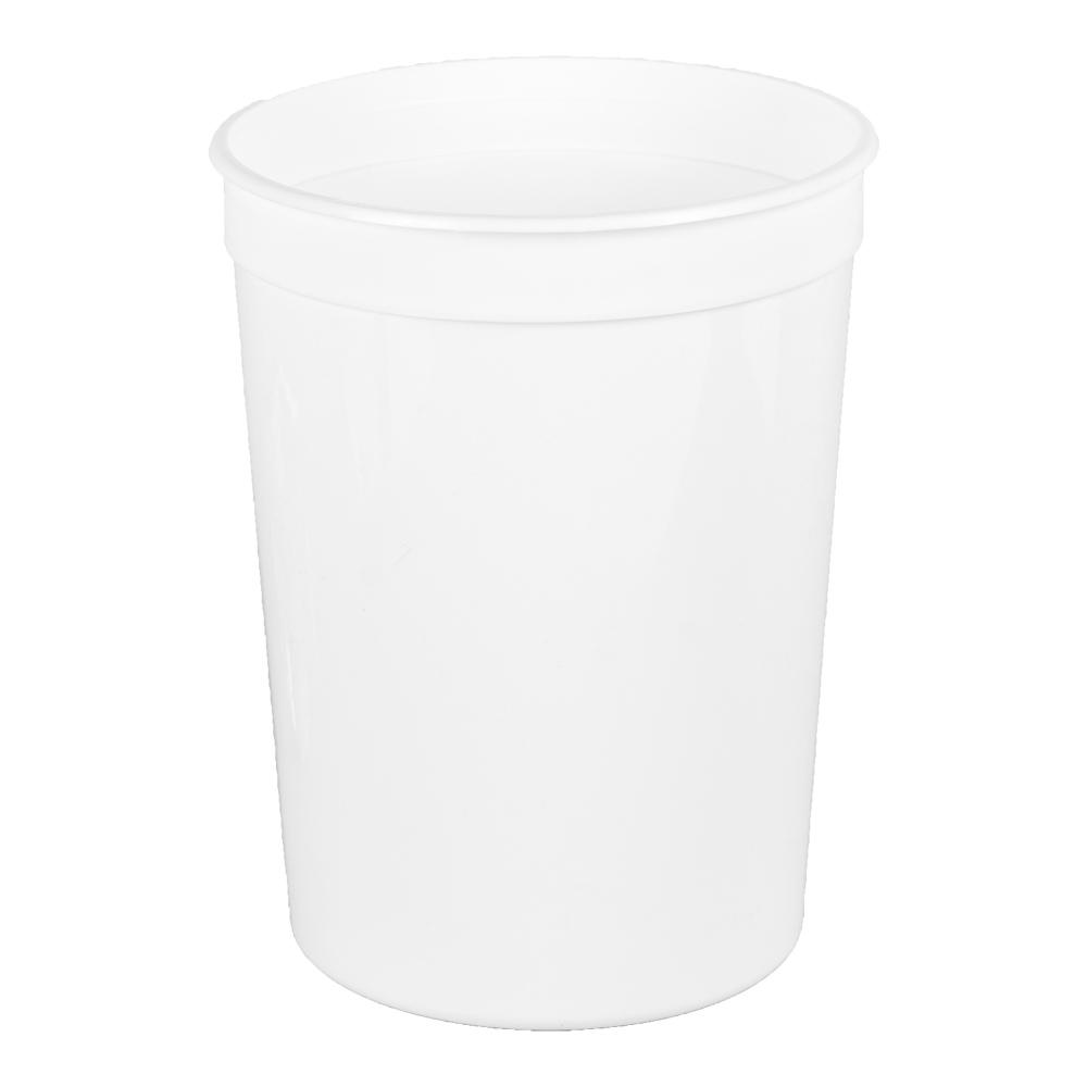 86 oz. White Polypropylene Container