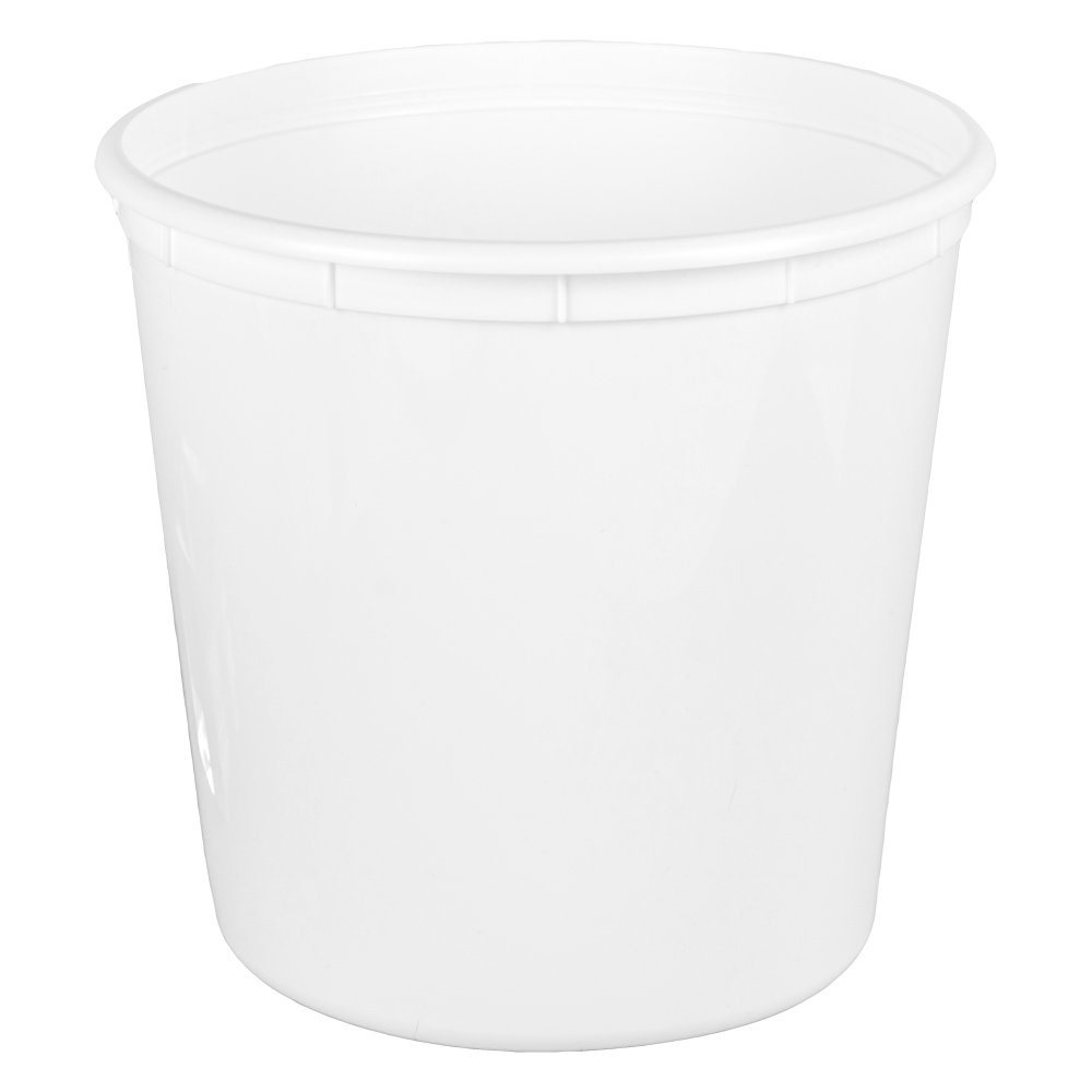 190 oz. White Polyethylene Container (Lid Sold Separately)