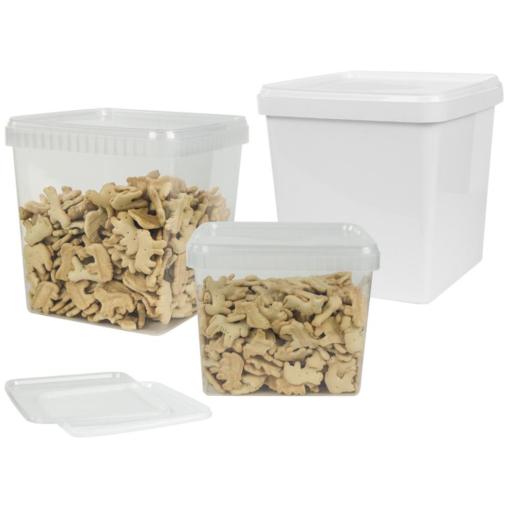 Unipak Tamper Resistant Square Container & Lids
