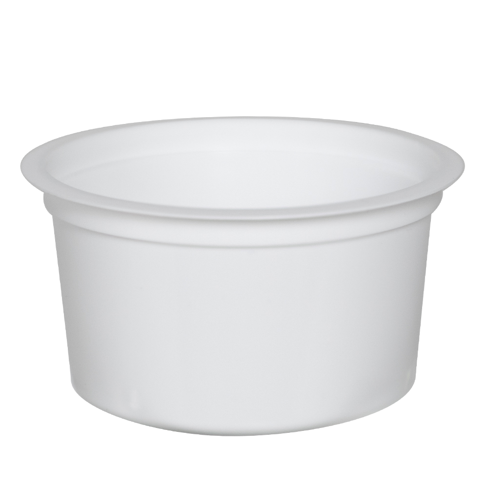 4 oz. White Polypropylene Portion Control Cup (Lid Sold Separately)