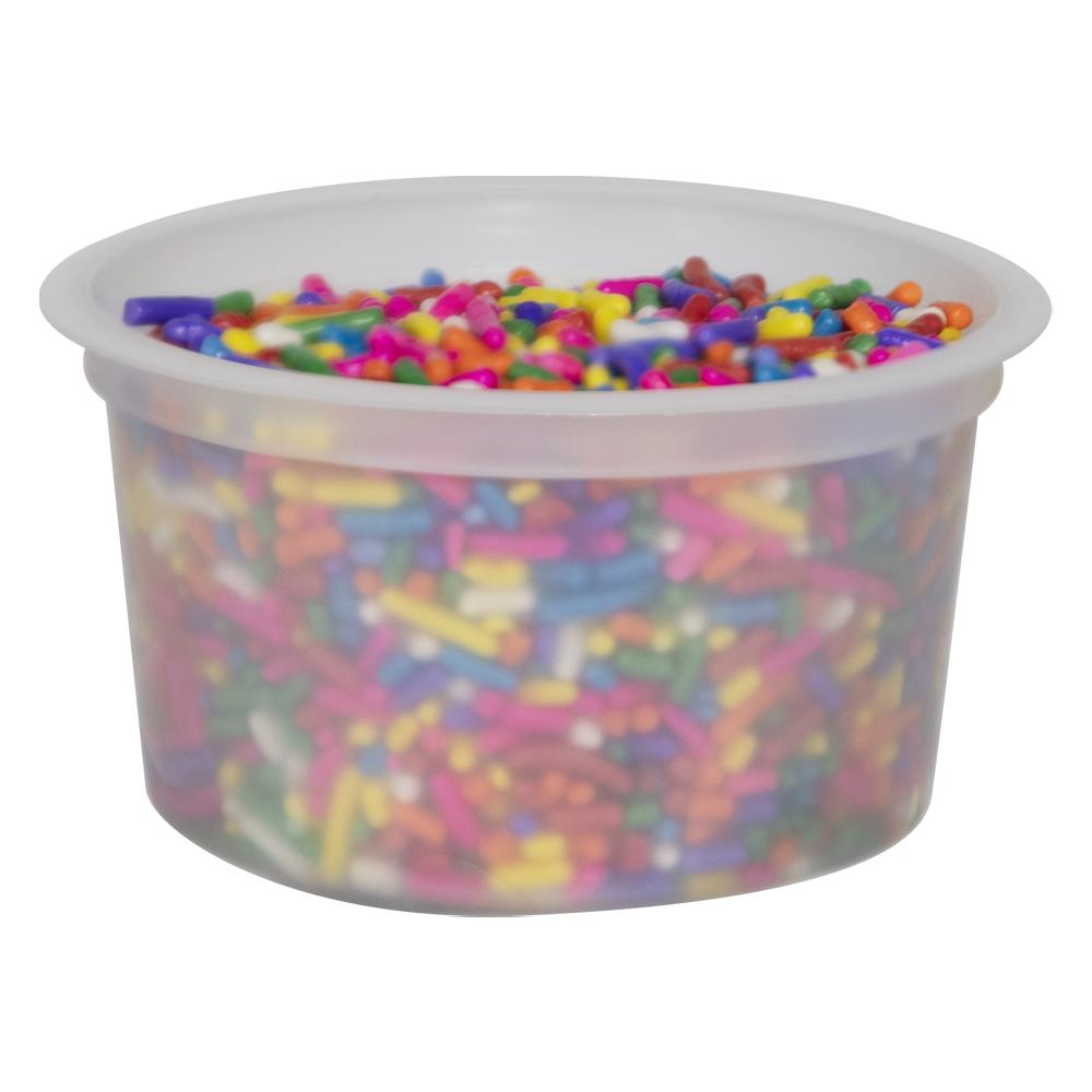5 oz. Natural Polypropylene Freezer Grade Portion Control Cup