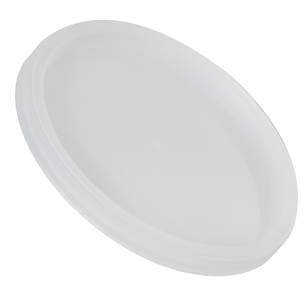 Natural LLDPE L410 Round Recessed Lid