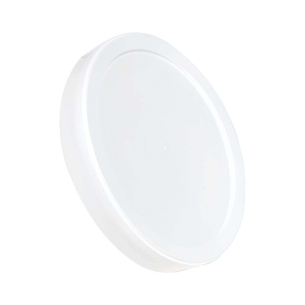 White LLDPE L410 Round Long Skirted Lid