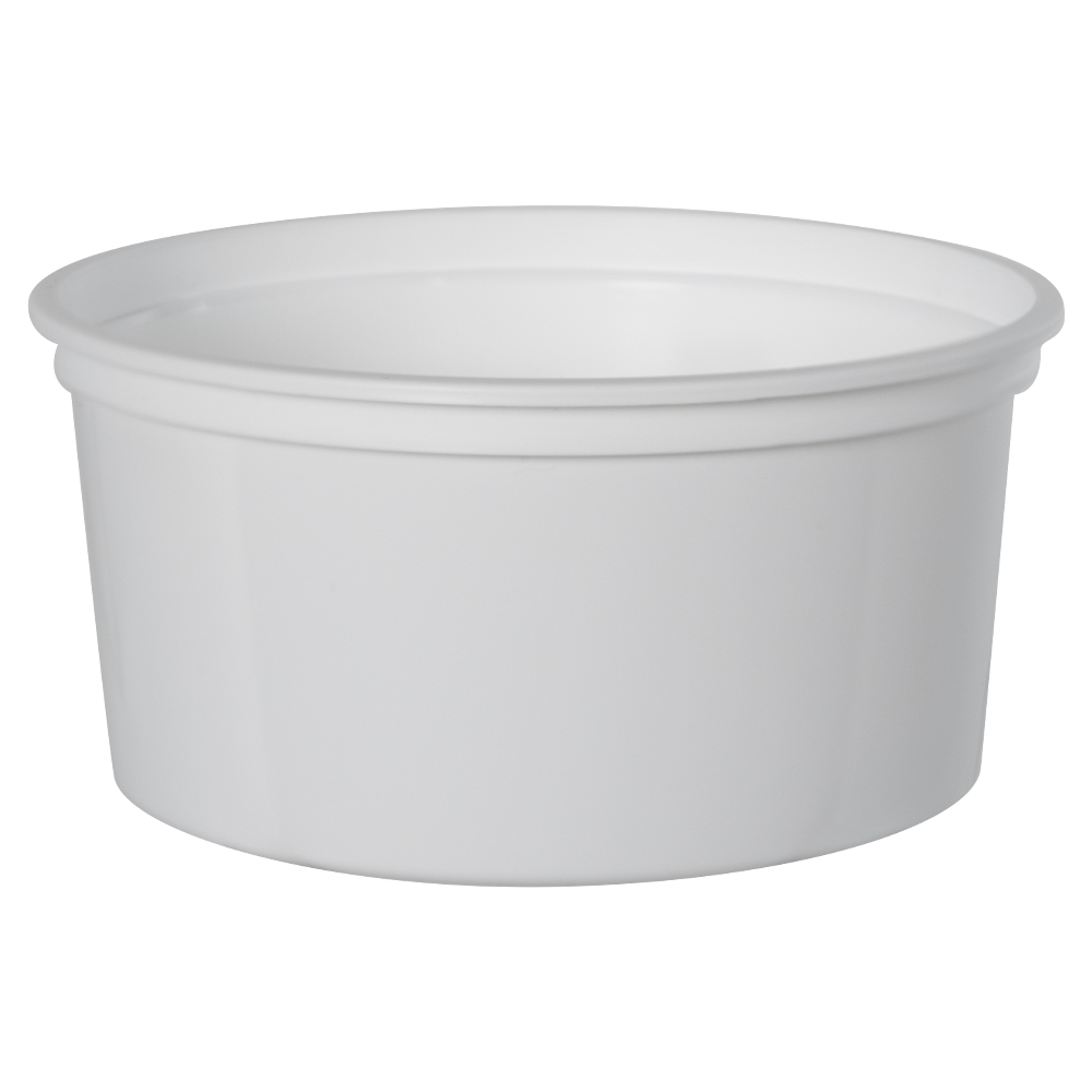 12 oz. White Polypropylene Z-Line Round Container