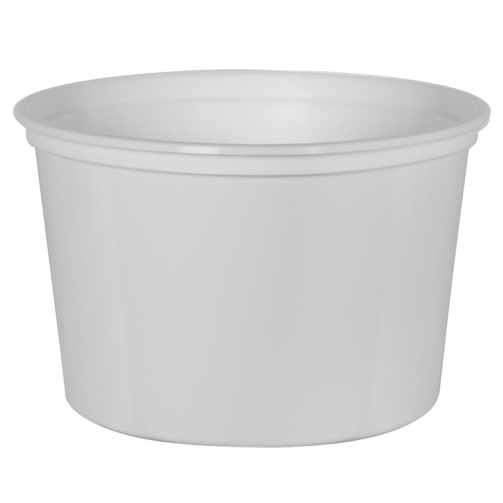 16 oz. White Polypropylene Z-Line Round Container