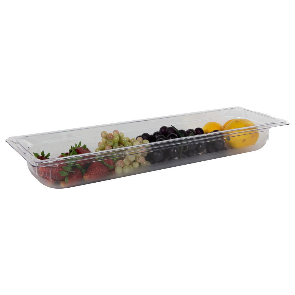3.8 Quart Clear Polycarbonate Low Temperature 1/2 Long Food Pan (Cover Sold Separately)