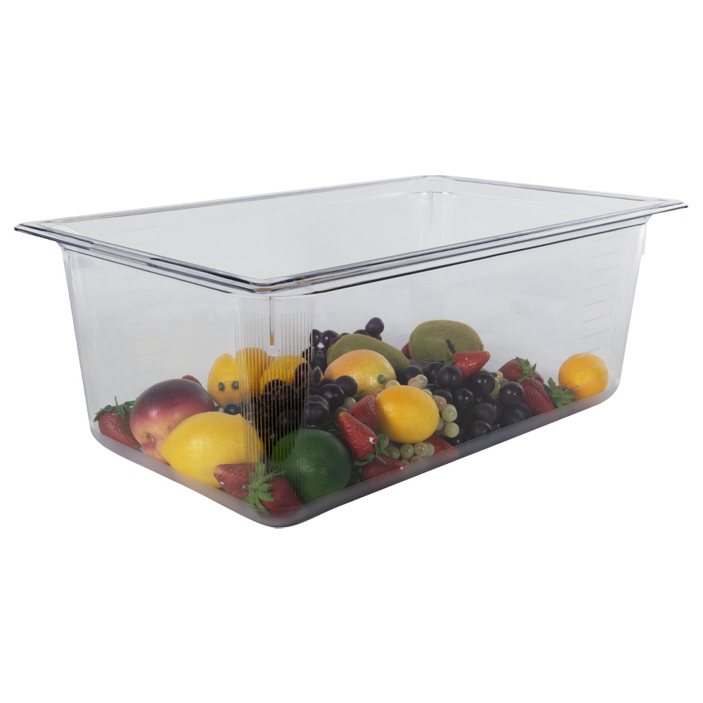 26.5 Quart Clear Polycarbonate Low Temperature Full Food Pan (Cover Sold Separately)