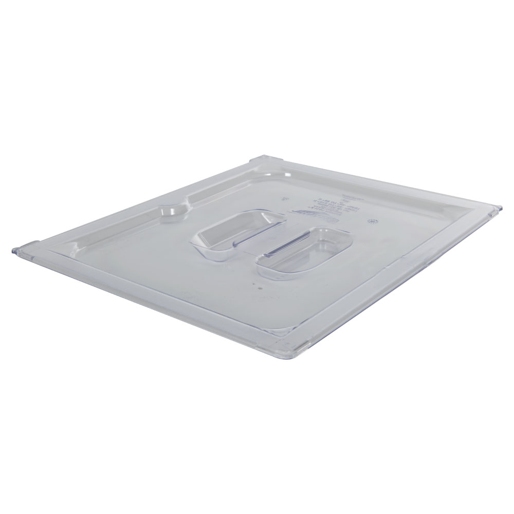 Clear 1/2 Food Pan Solid Cover with Molded Handle