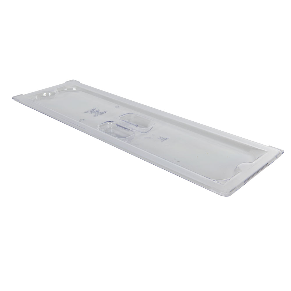 Clear 1/2 Long Food Pan Solid Cover with Molded Handle