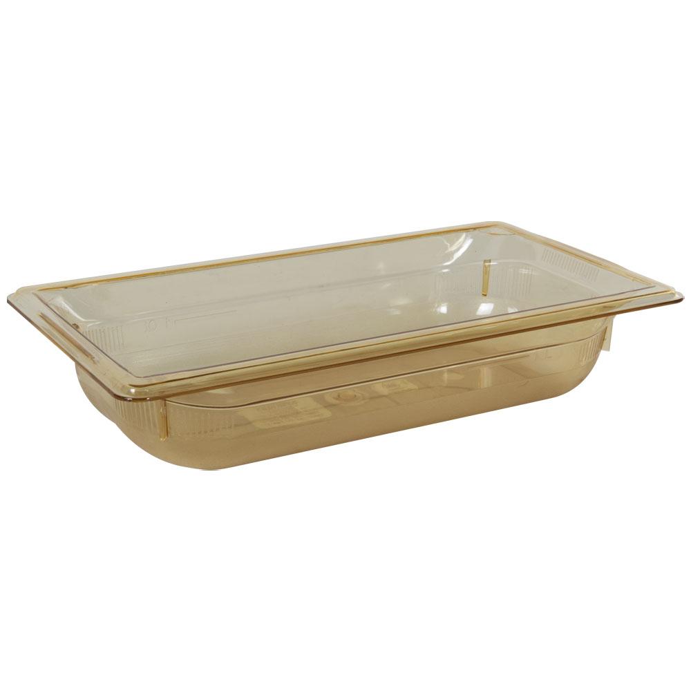 2.4 Quart Amber Polycarbonate High Temperature 1/3 Food Pan