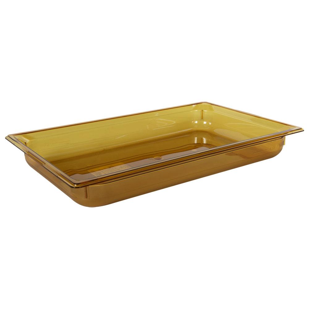 8.8 Quart Amber Polycarbonate High Temperature Full Food Pan