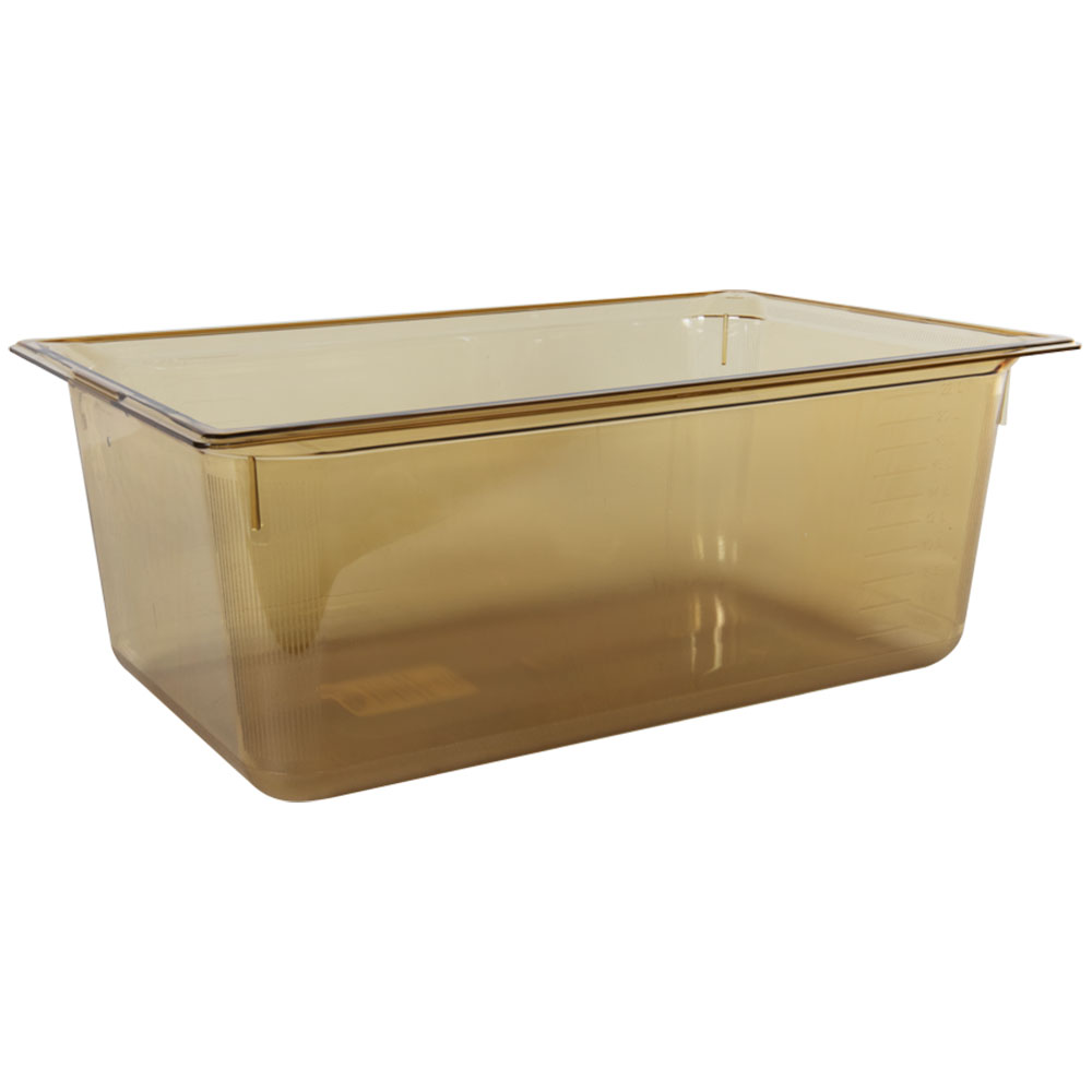 26.5 Quart Amber Polycarbonate High Temperature Full Food Pan