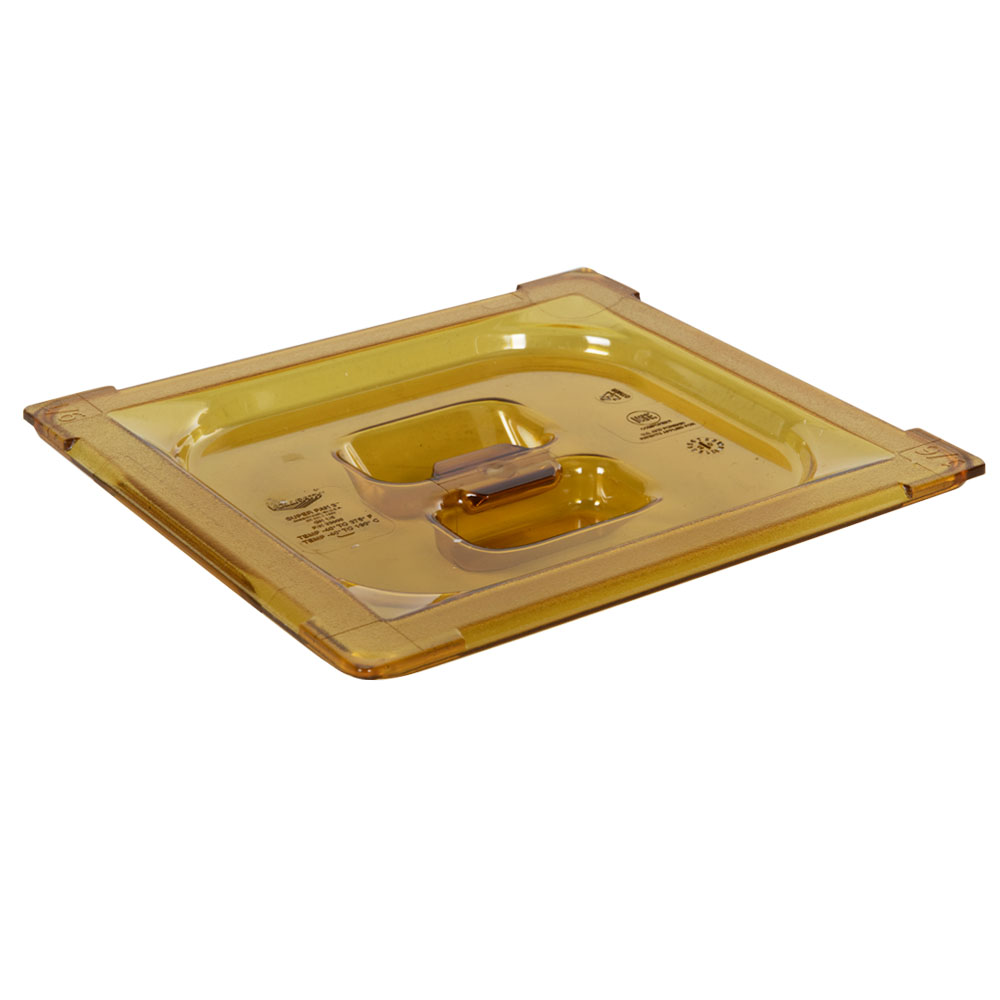 Amber 1/6 Food Pan Solid Cover with Molded Handle