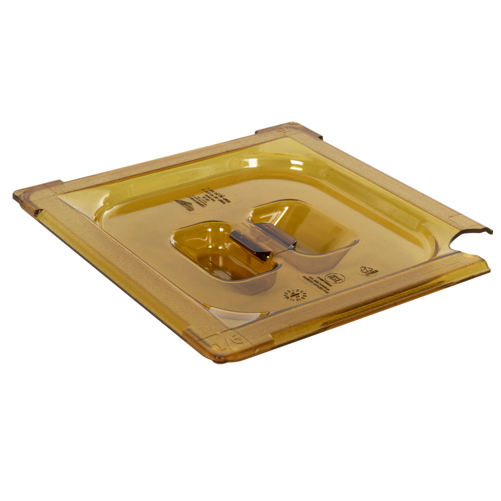Amber 1/6 Food Pan Slot Cover for Spoon