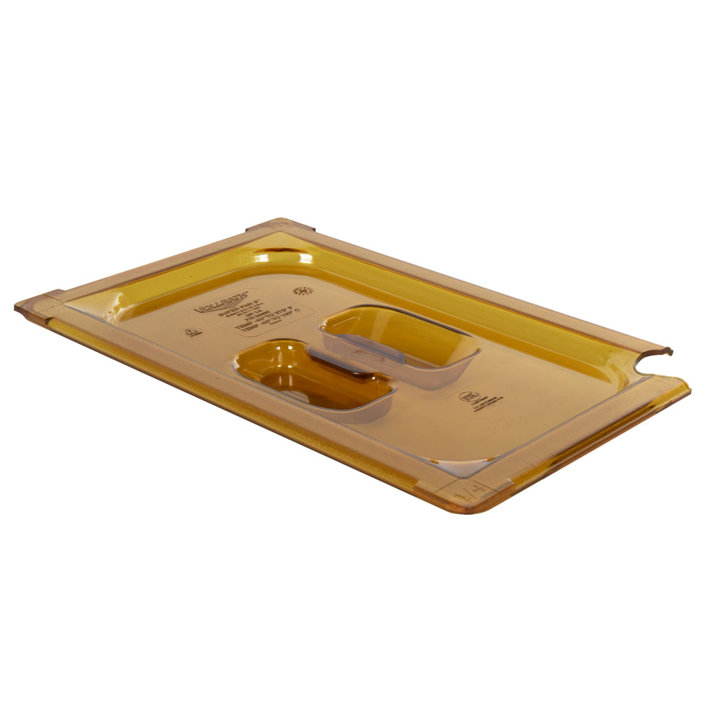 Amber 1/4 Food Pan Slot Cover for Spoon