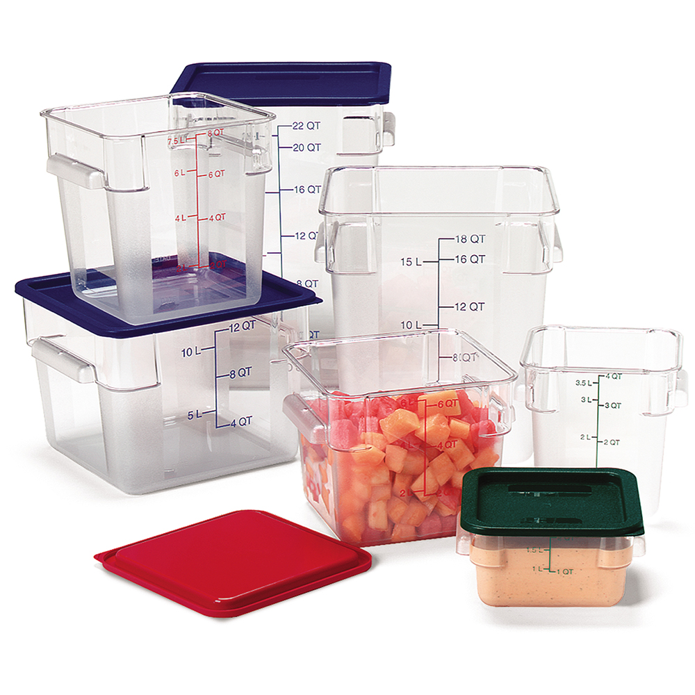 StorPlus™ Polycarbonate Square Food Storage Containers