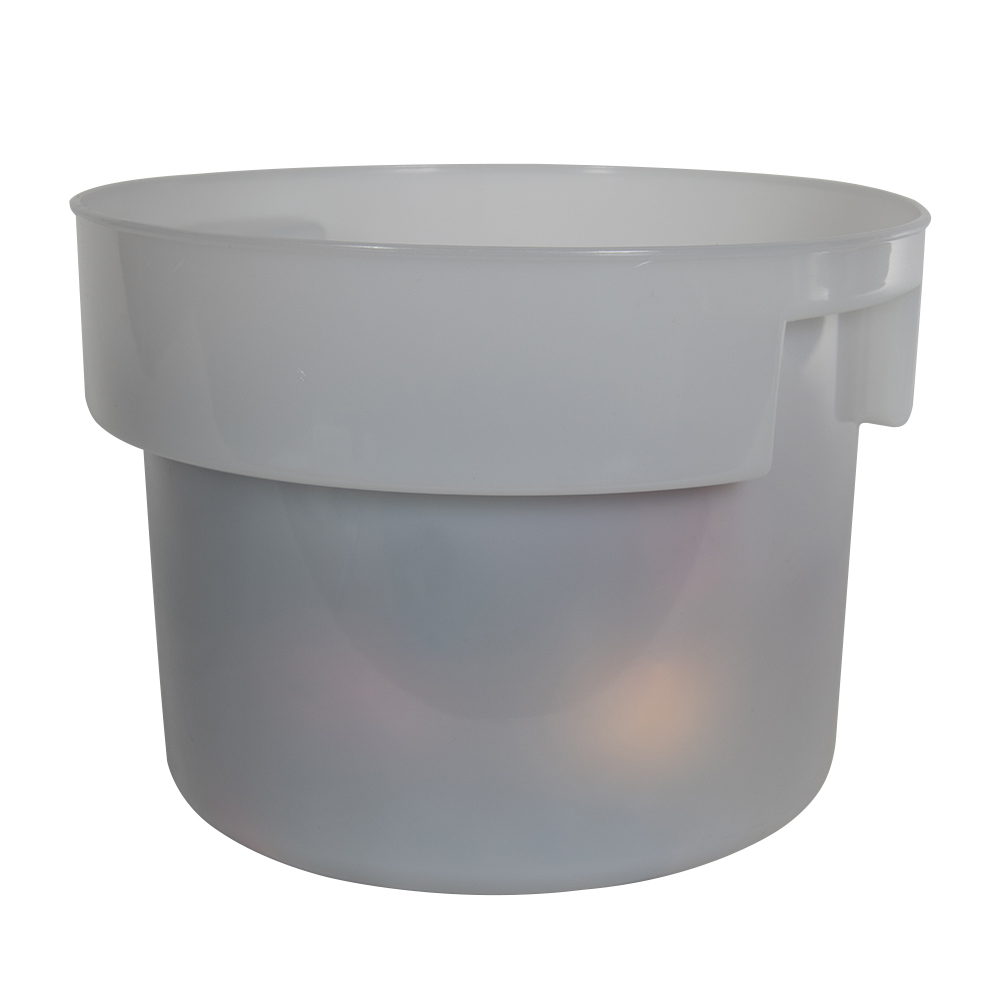 12 Quart White Polyethylene Bain Marie with Handles (Lid Sold Separately)