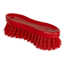 "Red ColorCore 6"" Stiff Hand Brush"