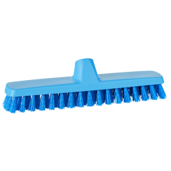 "12"" ColorCore Blue Deck/Wall Stiff Scrub Brush"