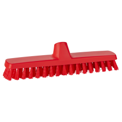 "12"" ColorCore Red Deck/Wall Stiff Scrub Brush"