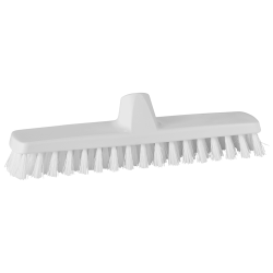 "12"" ColorCore White Deck/Wall Stiff Scrub Brush"