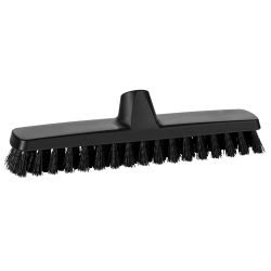 "12"" ColorCore Black Deck/Wall Stiff Scrub Brush"