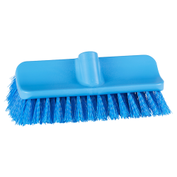 "10"" ColorCore Blue High-Low Stiff Deck Brush"