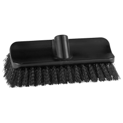 "10"" ColorCore Black High-Low Stiff Deck Brush"