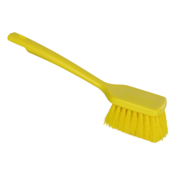 "ColorCore Yellow 12"" Short Handle Scrub Brush"