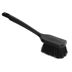 "ColorCore Black 12"" Short Handle Scrub Brush"