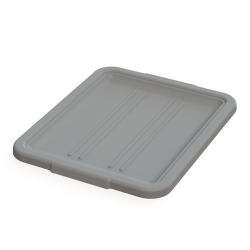 "5"" & 7"" Gray Bus Box Lid - 21-1/4"" L x 17-1/4"" W x 1-1/2"" H"