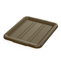 "5"" & 7"" Brown Bus Box Lid - 21-1/4"" L x 17-1/4"" W x 1-1/2"" H"