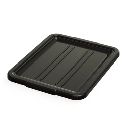 "5"" & 7"" Black Bus Box Lid - 21-1/4"" L x 17-1/4"" W x 1-1/2"" H"