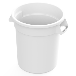 10 Gallon White Value Plus Trash Container (Lid Sold Separately)