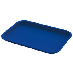 "14"" x 18"" Blue Food Service Tray"