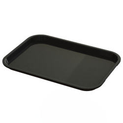 "10"" x 14"" Black Food Service Tray"