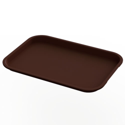 "10"" x 14"" Brown Food Service Tray"