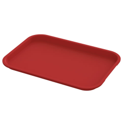 "12"" x 16"" Red Food Service Tray"