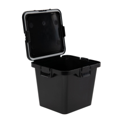55 Dram Black Polypropylene Cube Child-Resistant Container