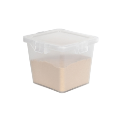 55 Dram Clear Polypropylene Cube Child-Resistant Container