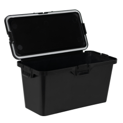 87 Dram Black Polypropylene Brick Child-Resistant Container