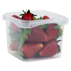 16 oz. Square Polypropylene Tamper Evident Container (Lid Sold Separately)