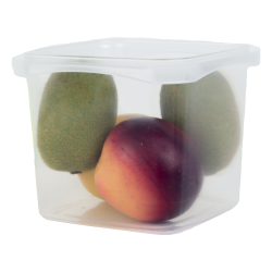 48 oz. Square Polypropylene Tamper Evident Container (Lid Sold Separately)