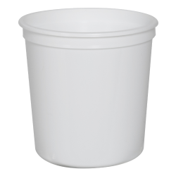 8 oz. White Polypropylene Portion Control Cup (Lid Sold Separately)