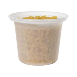 16 oz. Natural Polypropylene X-Line Round Freezer Grade Container