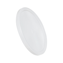 White LLDPE L410 Round Flat Lid