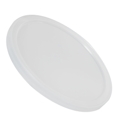 Natural LLDPE L410 Round Flat Lid
